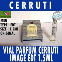 VIAL PARFUM CERRUTI IMAGE EDT 1.5ML FOR MEN ( VINTAGE ) HARD CASE