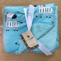 SELIMUT BAYI BABY CARTER DOUBLE FLEECE BLANKET BIRU