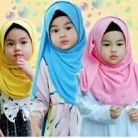 Jilbab kancing bayi anak balita - 5-7 th - SIZE M