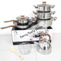 Panci Set Oxone Stainless / Eco Cookware Set Oxone 12+2 pcs OX-933
