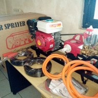 paket steam/door smeer mesin gx200+power sprayer 22 merk Supertech