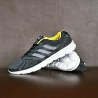 Sepatu Sport Adidas Duramo Running Olahraga Pria Hitam Kuning - ZR 07