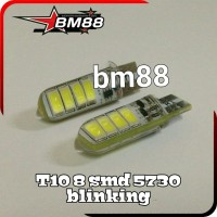 Lampu Led T10 8 SMD 5730 Blinking Silicon Canbus - Blitz