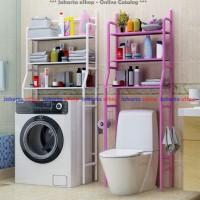 Rak Toilet Organizer HX-90 Rak WC Tissue Sabun Kloset Kamar Mandi