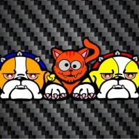 Cutting Sticker / Stiker Anjing Kucing / Cat Dog Guido Valentino Rossi