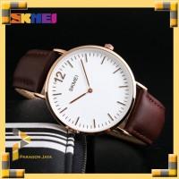 Jam Tangan Pria Analog Watch SKMEI 1181 Brown Leather Water Resistant