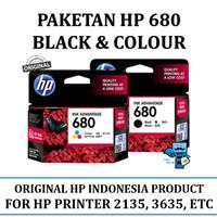 Paketan Tinta HP 680 Black + Colour Original Ink Cartridge