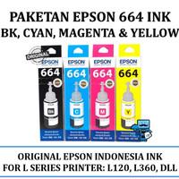 Paketan Epson 664 BK, C, M, Y Original Ink (Kami Dealer Resmi)