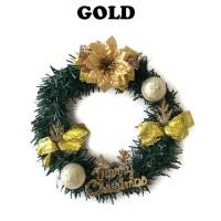 Hiasan Natal Murah Wreath Ring Krans Bulat Pajangan Pintu 15 CM