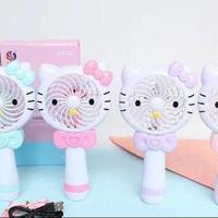 Mini Hand Fan / Kipas Angin Portable Hello Kitty - Fuchsia