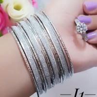 gelang plus cincin lapis emas putih terlaris 2547
