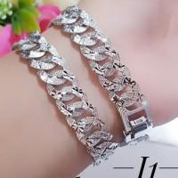gelang tangan lapis emas putih 24k terlaris