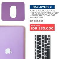 Bundling Promo - Case Macbook Matte + Keyboard Protector + Dustplug