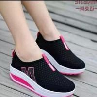 Promo Sepatu Slip On Jaring M SP62 HITAM Murah