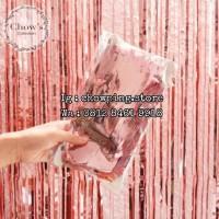 Tirai Rumbai Foil / Curtain Slinger Foil / Backdrop Foil Rose Gold