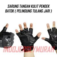 BATOK PENDEK sarung tangan motor / biker / racing bahan kulit