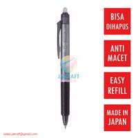 Pulpen Bolpen Gel PILOT Frixion Hitam (0.5 mm) Pen Dapat Dihapus