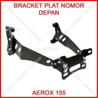 Bracket Plat Nomor Depan Aerox 155 PNP Dudukan Breket Braket Spakbor