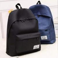 BP01 Korea Casual Canvas Backpack Pria Wanita / Tas Kuliah Sekolah