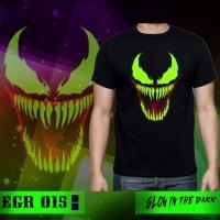 Kaos Baju Tshirt Pria Glow in the Dark Venom EGR015 - Hitam, L