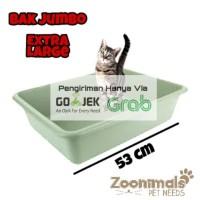 bak kotak pasir / litter box kucing jumbo - extra large P53 - HANYA GOJEKGRAB