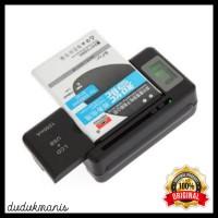 Desktop Charger Baterai Smartphone Charging USB Battery LCD HAN-053