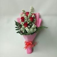 buket bunga wisuda bucket bunga mawar merah asli bouquet florist