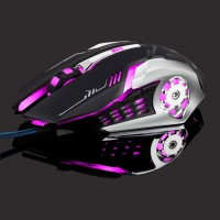 New Leopard Mouse Gaming LED RGB 3200DPI - T02 High Quality