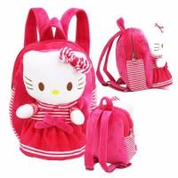 Tas Anak Balita Sekolah Paud TK Boneka Hello Kitty Bahan Lembut -