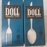 Sendok atau Garpu Makan Stainless Steel merek Doll isi 6 Pcs Perdus