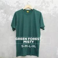 Kaos Polos Warna Green Forest Misty