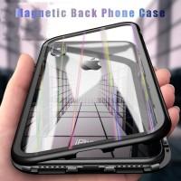 Magnetic Case Iphone 6 6+ 7 7 Plus 8 8+ X XS Aluminium Tempered Casing