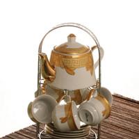 Vicenza Tea Set C96 - Cangkir + Teko Set Motif Lily