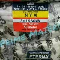 Kabel Eterna NYM 3x1.5 / Kabel Listrik Eterna NYM Per Roll 50 Meter