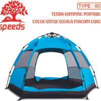 Tenda Camping Tenda Kemah Speeds 3-5 Orang Lipat Portable Type 007 - Biru