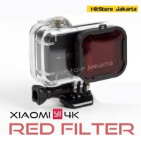 Snap On Red Filter Underwater Xiaomi YI 4K Waterproof Case