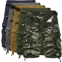 Celana Pendek Cargo dengan Motif Camo Tentara untuk Musim Panas