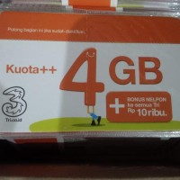 Voucher Isi Ulang Data Tri 4 Gb Kuota Vocer Three Regular 4Gb 24 Jam