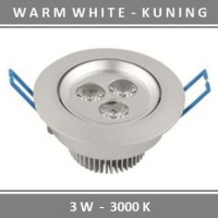 Lampu Downlight LED 3 Mata 3W Kuning Spot Sorot 3 W Warm White 3 Watt