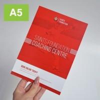 cetak Flyer/brosur a5 bahan art paper 150 GR 1rim (1sisi) (1-2 hari)