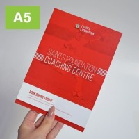 cetak Flyer/brosur a5 bahan art paper 150 GR 1rim (1sisi) (ekspress)