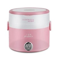 PlayBear Multifunction 2 Layers Electric Lunch Box Rice Cooker-1.2L