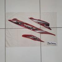 Striping Sticker Lis Yamaha Mio Sporty 2010 2011 Merah