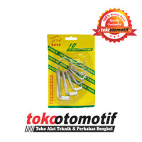 Kunci L Set 10 Pcs 1,5 - 10 MM (N) / Hexagonal Key Wrench Top Quality