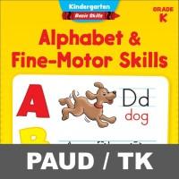 Alphabet Fine Motor Skill Buku Aktivitas Anak PAUD TK Menulis Mewarnai