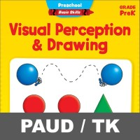 Visual Perception Drawing Buku Aktivitas Anak PAUD TK Menulis Mewarnai