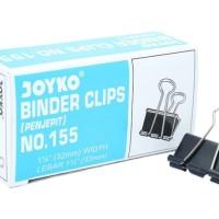 Penjepit Kertas/Binder Klip/Binder Clip No.155 Joyko