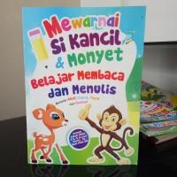 Buku Mewarnai, belajar Menulis, membaca, berhitung, Cerita si Kancil