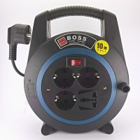 Kabel Roll Turbo Boss 10Meter Grounding + Switch + Universal socket