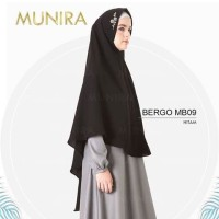 KEREN!! Jilbab Bordir Pet Tipis Original Munira MB09 MB 09 Khimar